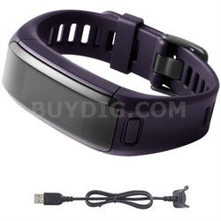 vivosmart HR Activity Tracker Regular Fit Imperial Purple Charging Cable Bundle