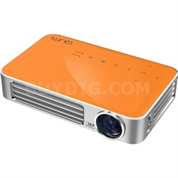 Qumi Q6 800 Lumen WXGA 720p HD LED Wireless Pocket Projector - Orange - OPEN BOX