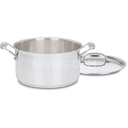 Chef's Classic Stainless 6-Quart Sauce Pot with Lid (744-24)