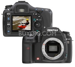 K10D 10MP Digital SLR Body (lens not included)