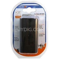 NP-F970 7400 mAh Battery for Sony HVR-V1,HXR-NX5,HVR-Z5U,HDR-AX2000,HDR-FX1000