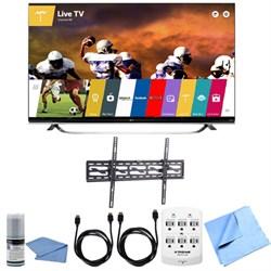 65UF8500 - 65-Inch 2160p 240Hz 3D 4K LED UHD WebOS Smart TV Tilting Mount Bundle