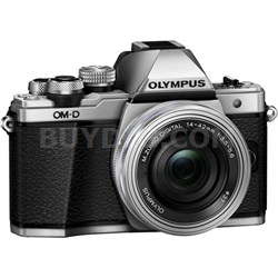 OM-D E-M10 Mark II Mirrorless Digital Camera w/ 14-42mm EZ Lens (Silver)