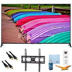 """XBR55X850B - 55"""" 3D 4K UHD TV Motionflow XR 240 Smart TV Mount & Hook-Up Bundle"""