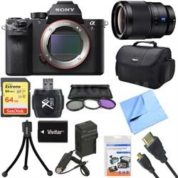 a7R II Full-frame Mirrorless Interchangeable 42.4MP Camera Body 35mm Lens Bundle