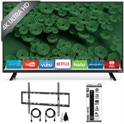 "D65u-D2 65"" Class Ultra HD 4K Full-Array LED Smart TV Flat Wall Mount Kit Bundle"