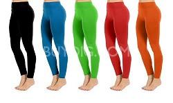 Seamless Full Length Leggings (Orange) One Size