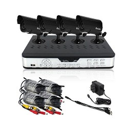 4 Channel H.264 DVR (Internet Ready, 4 Night Vision Cams,500GB HDD Mobile Ready)
