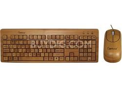 Bamboo Custom Carved Designer Keyboard & Mouse