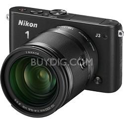 1 J3 14.2MP Black Digital Camera with 10-100mm VR Lens