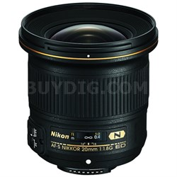 AF-S NIKKOR 20mm F/1.8G ED Lens - Manufacturer Refurbished