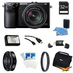 NEX-7K/B Compact Camera with 18-55 Lens 32GB 20mm f 2.8 Lens Bundle