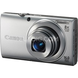 Powershot A4000 IS 16MP Silver Digital Camera 8x Optical Zoom 3 inch LCD