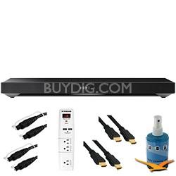 TV Sound System with Built-in Subwoofer Plus Hook-Up Bundle - HT-XT1