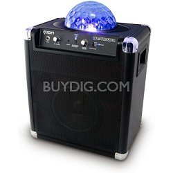 Party Rocker Live Bluetooth Portable System with Microphone Built-In Light Show