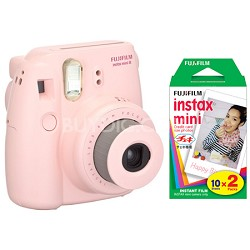 Instax 8 Color Instax Mini 8 Instant Pink Camera and 2 Pack Film Kit