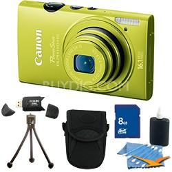 PowerShot ELPH 110 HS 16.1MP Green Digital Camera 5x Zoom HD Video 8 GB Bundle
