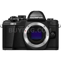 OM-D E-M10 Mark II Mirrorless Micro Four Thirds Digital Camera Body Only (Black)