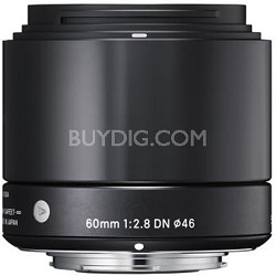 60mm F2.8 EX DN ART Lens for Micro Four Thirds (Black)