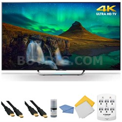XBR-55X850C - 55-Inch 3D 4K Ultra HD Smart Android LED HDTV + Hookup Kit