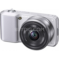 Alpha NEX-3 Interchangeable Lens Silver Digital Camera w/ 16mm Lens