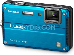 LUMIX 14.1 MP Water, Shock & Freezeproof Digital Camera (Blue) - OPEN BOX