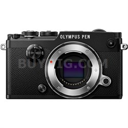 PEN-F 20MP Mirrorless Micro Four Thirds Digital Camera Body (Black)