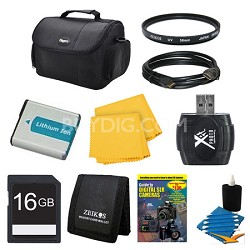 16GB SD Card, Case, Battery, Filter, Card Reader, Card Wallet, and More