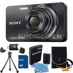Cyber-shot DSC-W570 Black Digital Camera 8GB Bundle