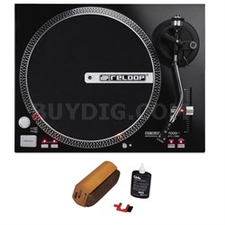 Direct Drive High Torque DJ Turntable+ D4+ Vinyl Record Cleaning System