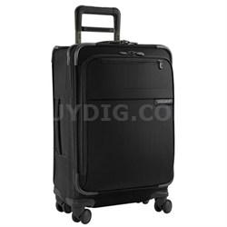"""U122SP-4  Baseline 22"""" Domestic Carry-On Spinner - Black"""