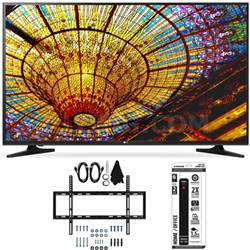 50UH5500 - 50-Inch 4K Ultra HD Smart LED TV w/ webOS 3.0 Flat Wall Mount Bundle