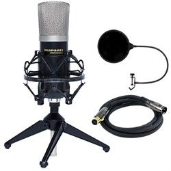 Large Diaphragm Condenser Microphone with Accessories w/ Filter Bundle