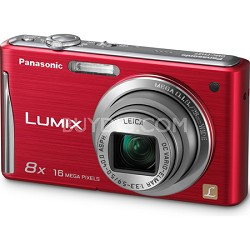 "Lumix DMC-FH27 16MP 8x Zoom Red Compact Digital Camera w/ 3.0"" Touchscreen"