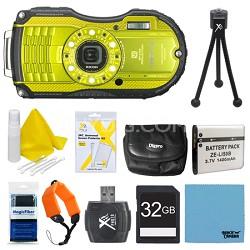 WG-4 16MP HD 1080p Waterproof Digital Camera Lime Yellow 32GB Kit
