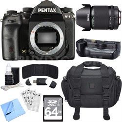 K-1 36.4MP CMOS Full Frame Digital SLR Camera Body w/ 28-105mm Lens Bundle