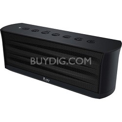 MobiOut Splash-Resistant Wireless Bluetooth Speaker with Jump-Start - Black