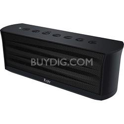 MobiOut Splash-Resistant Wireless Bluetooth Speaker with Jump-Start - Black