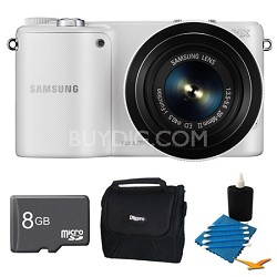 NX2000 20.3MP White Smart Digital Camera with 20-50mm Lens 8GB Bundle