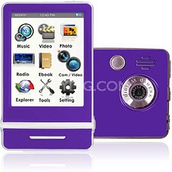 "E4 Series - 3"" Touch Screen MP3 Video Players 8GB w/ Digital Camera (Purple)"