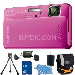 Cyber-shot DSC-TX10 Pink Digital Camera 8GB Bundle