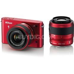 1 J1 SLR Red Digital Camera w/ 10-30mm & 30-110mm VR Lenses