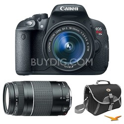 EOS Rebel T5i Digital SLR with 18-55mm STM Lens and 75-300mm Lens Bundle Deal
