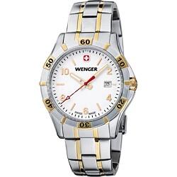 Men's Platoon Analog Watch - White Dial/Bi-Color Stainless Steel Bracelet