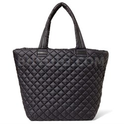 BROVERR Floral Print Quilted Tote Bag - Black