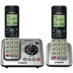 DECT 6.0 2-Handset Landline Telephone Cordless Answering System - OPEN BOX