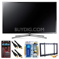 "UN65F6300 65"" 120hz 1080p WiFi LED Slim Smart HDTV Wall Mount Bundle"