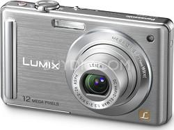 "DMC-FS25S 12.1 MP Digital Camera w/ 3.0"" Intelligent LCD (Silver) - OPEN BOX"