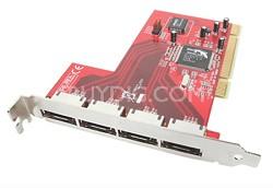 4-Port RAID 5 eSATA 1.5Gbps PCI Card - GIC704SR5