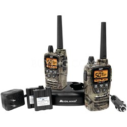 50-Channel GMRS Radio Pair Pack, Drop-In Charger, Batteries, Headsets GXT2050VP4